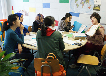 Teaching English to spouses of international students